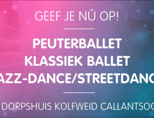 Peuterballet-, Klassiek ballet & Jazz-Dance/Streetdance lessen in Callantsoog